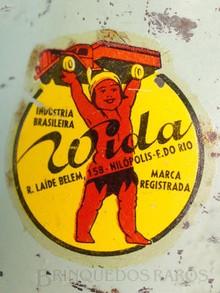Brinquedos antigos -  - Segundo Logotipo Wida Etiqueta aplicada por Decalcomania Década de 1940
