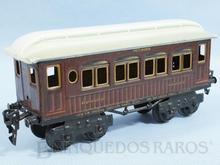 Brinquedo antigo Marklin Carro de Passageiros Mitropa Dormitório número 1886 Ano 1889 até 1927 litografado Comprimento 20,00 cm