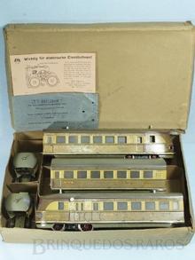 Brinquedo antigo Marklin Automotriz Diesel Elétrica Número TW 66/12940/3 com a Caixa Original e folhetos de instruções Ano 1937 a 1942 Alimentação 20 Volts com Transformador Comprimento 92,00 cm
