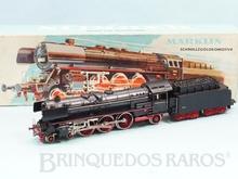 Brinquedo antigo Marklin Locomotiva a Vapor Classe BR 01 Rodagem 2`C1` Ferrovia Alemã Número 3048 Classificação Koll