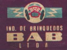 Brinquedos antigos -  - Logotipo Indústria de Brinquedos BAB Década de 1960