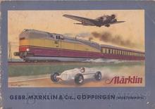 Brinquedo antigo Marklin Catálogo anos 1936/1937 Edição em alemão com 76 páginas coloridas Neste Catálogo aparecem os primeiros trens Bitola OO