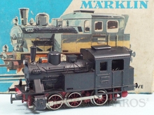 Brinquedo antigo Marklin Locomotiva Tanque a Vapor Linha secundária Rodagem C Ferrovia Alemã Número 3029 Classificação Koll
