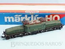 Brinquedo antigo Marklin Locomotiva Elétrica Biarticulada Classe Ce6/8 Rodagem (1`C) (C1`) Krokodil Crocodilo Ferrovia Suíça Número 3356 Classificação Koll