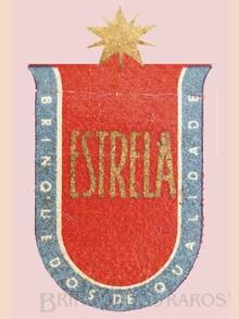 Brinquedos antigos -  - Estrela Logotipo Etiqueta aplicada por decalcomania nos brinquedos de madeira Década de 1950