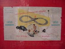 Brinquedos antigos -  - Rótulo da Caixa do autorama Autopista fabricado pela Safar Itália em 1948