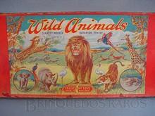 Brinquedos antigos -  - Rótulo da Caixa de Animais Selvagens fabricado pela Crescent Inglaterra na década de 1940