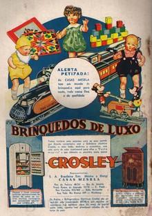 Brinquedos antigos -  - Anuncio de página inteira da Revista O Careta de 1936, das lojas Mesbla com destaque para os Trens Lionel