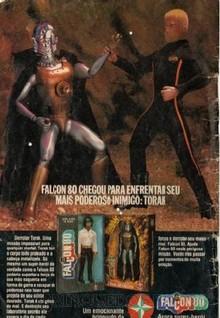Brinquedos antigos -  - Propaganda de página inteira na revista Turma da Mônica, de 1980, onde a Estrela apresenta Torak, o inimigo do Falcon