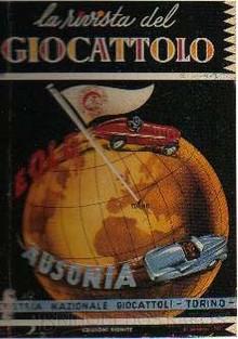 Brinquedos antigos -  - Capa da Revista del Giocattolo, publicação especialisada em brinquedos editada em 30 de outubro de 1947 na Italia