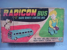 Brinquedos antigos -  - Caixa do Onibus Radicon Primeiro brinquedo de controle remoto do mundo Fabricado pela Modern Toys Japão na década de 1970