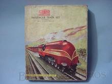 Brinquedos antigos -  - Caixa do Conjunto de Trem à Corda fabricado pela Metoy Inglaterra na Década de 1930