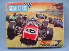 Brinquedos antigos -  - Rótulo da Caixa do Autorama Scalextric Fabricado pala Triang Inglaterra na década de 1970