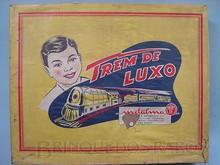 Brinquedos antigos -  - Rótulo da Caixa Trem de Luxo Fabrica Metalma brasileira década de 1950