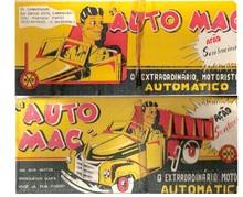 Brinquedos antigos -  - Rótulo da Caixa do Caminhão Basculante Auto Mac fabricado pela Trol Brasil sob licença da Marx americana na década de 1950