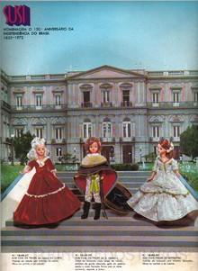 Brinquedos antigos -  - Cartaz promocional da Estrela mostrando a boneca Susi com roupas comemorativas ao Bicentenário da Independencia do Brasil em 1972