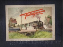 Brinquedos antigos -  - Rótulo da Caixa do trem elétrico fabricado em 1945 pela Fleischmann Alemanha Trabalho assinado pelo artista Kuch