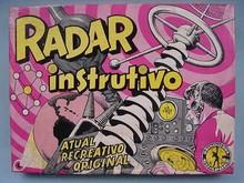Brinquedos antigos -  - Caixa do Jogo de Perguntas e Respostas Radar Instrutivo fabricado pela Guaporé Brasil na década de 1970 Trabalho Assinado pelo Artista Kraus