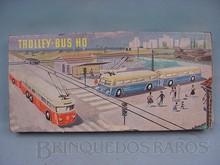 Brinquedos antigos -  - Caixa do Conjunto Trolley Bus fabricado pela Eheim Alemanha Década de 1960