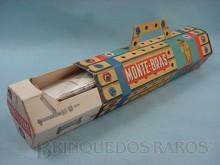 Brinquedos antigos -  - Caixa do Conjunto de Montar Monte Bras fabricado pela Estrela Brasil no final da Década de 1960 Destaque para o inédito desenho hexagonal