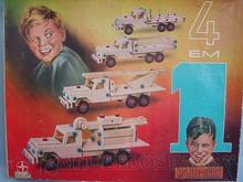 Brinquedos antigos -  - Caixa do Conjunto de Montar Monte Bras Tipo 4 em 1 fabricado pela Estrela Brasil na década de 1950 Trabalho assinado pelo artista Ali