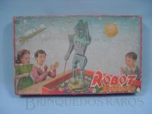 Brinquedos antigos -  - Caixa do Jogo de Perguntas e Respostas Robot Instrutivo fabricado pela Plásticos Namur Brasil Década de 1950