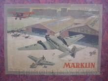 Brinquedos antigos -  - Rótulo da Caixa do Conjunto para montar o Avião Junkers JU52 fabricado pela Marklin em 1936