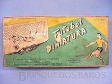Brinquedos antigos -  - Caixa do Jogo de Futebol de Botões Futebol Miniatura fabricado pela Santa Maria Brasil em 1958