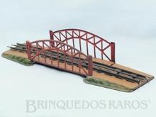 Brinquedo antigo Marklin Ponte em Arco com Cabeceiras Número 2500 Ano 1932 a 1940 Comprimento 52,00 cm