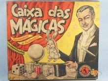 Brinquedos antigos -  - Caixa do Conjunto de Mágicas Caixa das Mágicas Fabricado pela Guaporé Brasil na década de 1960 Trabalho assinado pelo Artista Kraus