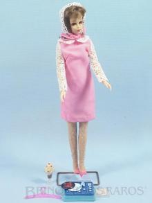 Brinquedo antigo Boneca Francie vestindo o Conjunto Dance Party Anos 1966 e 1967