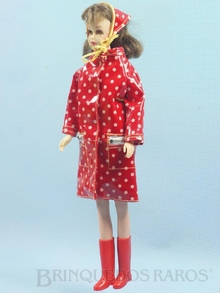 Brinquedo antigo Boneca Francie vestindo o Conjunto Polka Dots`n Raindrops Ano 1966