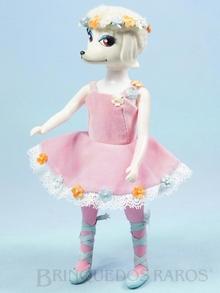 Brinquedo antigo Boneca Peteena vestindo o Conjunto Twinkle Toes para ir à Aula de Balet Ano 1966