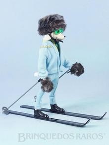 Brinquedo antigo Boneca Peteena vestindo o Conjunto Zero Cool para esquiar na neve Ano 1966