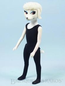 Brinquedo antigo Boneca Peteena vestindo o macacão do Conjunto Slicker Set Ano 1966