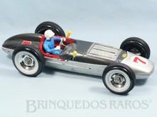 Brinquedos antigos -  - Carro de Corrida Fómula Indy com 44,00 cm de comprimento Jetspeed Indy Car fabricado pela Yonezawa Japão em lata litografada Apresenta movimento à pilha com variador de velocidade e motor iluminado Década de 1960