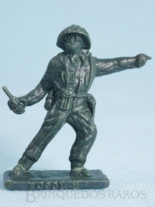 Brinquedo antigo Soldado Toddy Comandante avançando Numerado 8