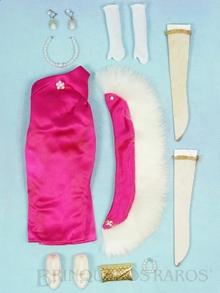 Brinquedo antigo Conjunto completo Ooh La La com 9 itens inclusive uma estola com aplicação em pele de coelho Ano 1966