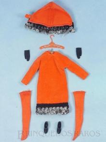Brinquedo antigo Conjunto completo Orange Cosy com 5 itens Anos 1966 a 1967