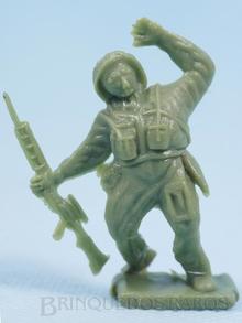 Brinquedo antigo Cópia de segunda linha do Soldado ferido injetada na cor verde claro