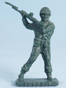 Brinquedo antigo Soldado Toddy de pé lutando com Fuzil Numerado 6