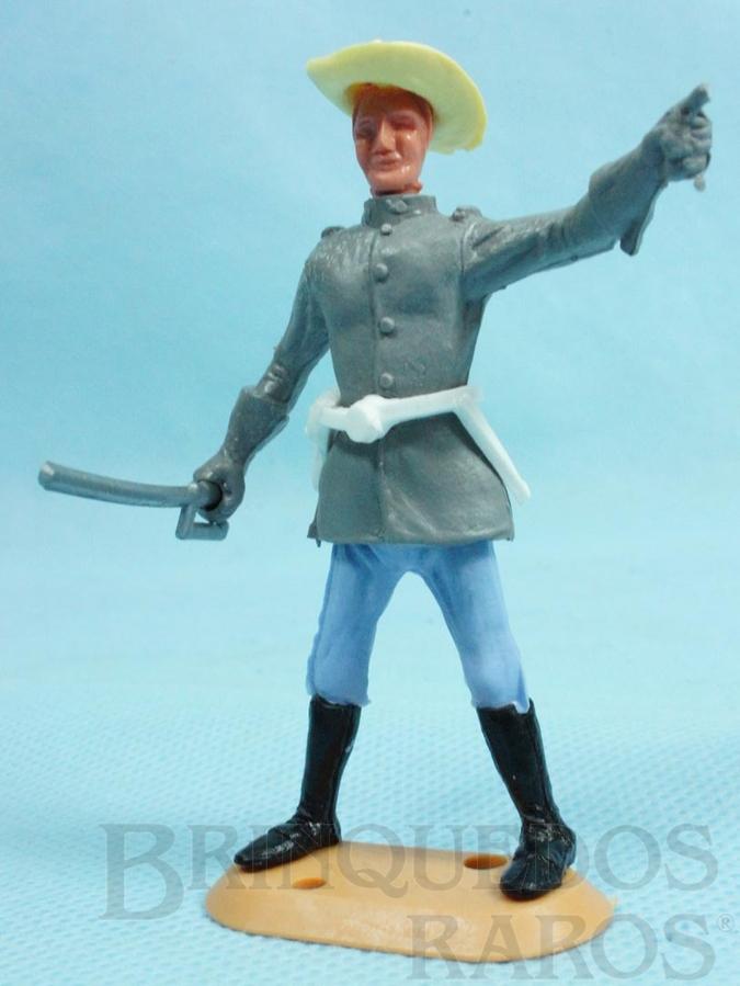 Brinquedo antigo Comandante Confederado com sabre Década de 1970