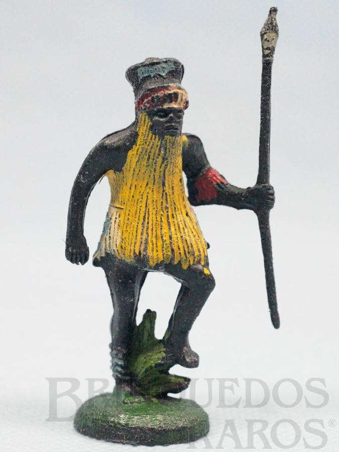 Brinquedo antigo Feiticeiro Série África Misteriosa com lança Década de 1970