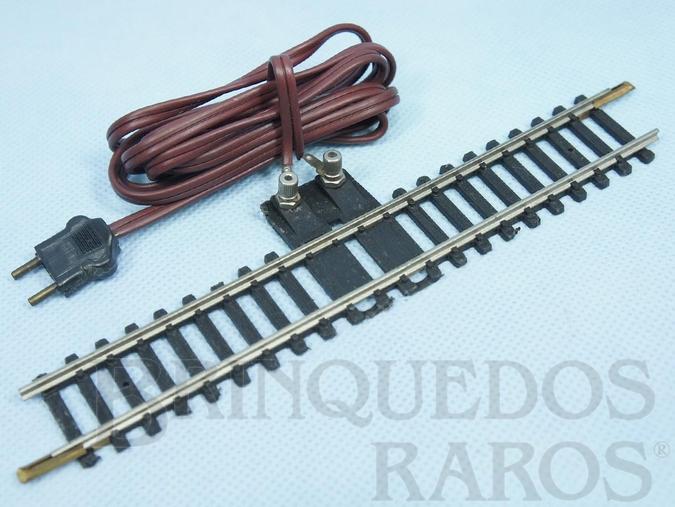 Brinquedo antigo Trilho de ligação e cabo com tomada padrão Atma