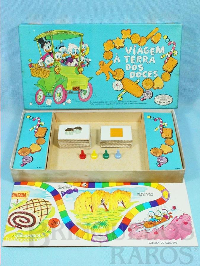 Brinquedo antigo Jogo Viagem à Terra dos Doces Walt Disney Década de 1960