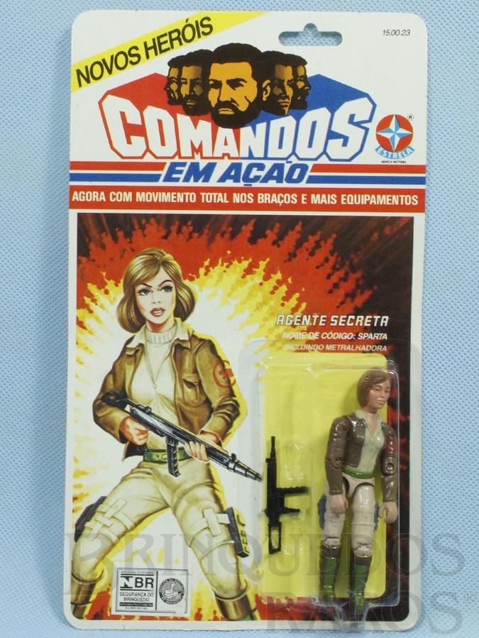 Brinquedo antigo Comandos em Ação Agente Secreta lacrado