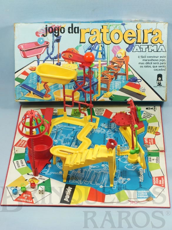 Brinquedo antigo Jogo da Ratoeira completo Década de 1970