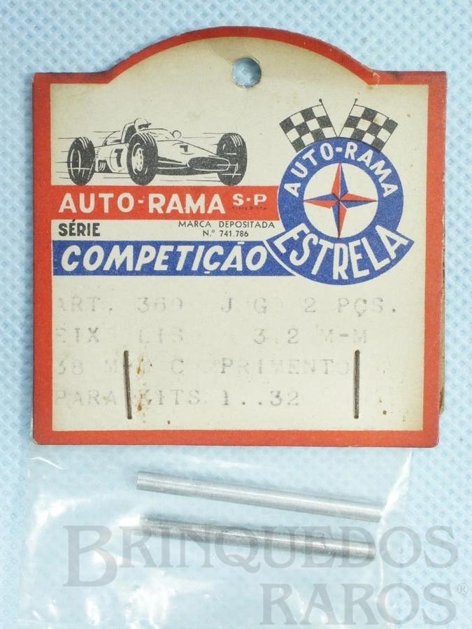 Brinquedo antigo Conjunto de 2 eixos lisos Dianteiros e Traseiros de 38 mm para Kits de Carros 1:32 Embalagem lacrada Ano de 1967