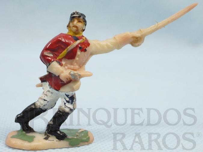Brinquedo antigo Comandante do Exército Paraguaio com Sabre e revolver Batalha do Tuiutí Década de 1960