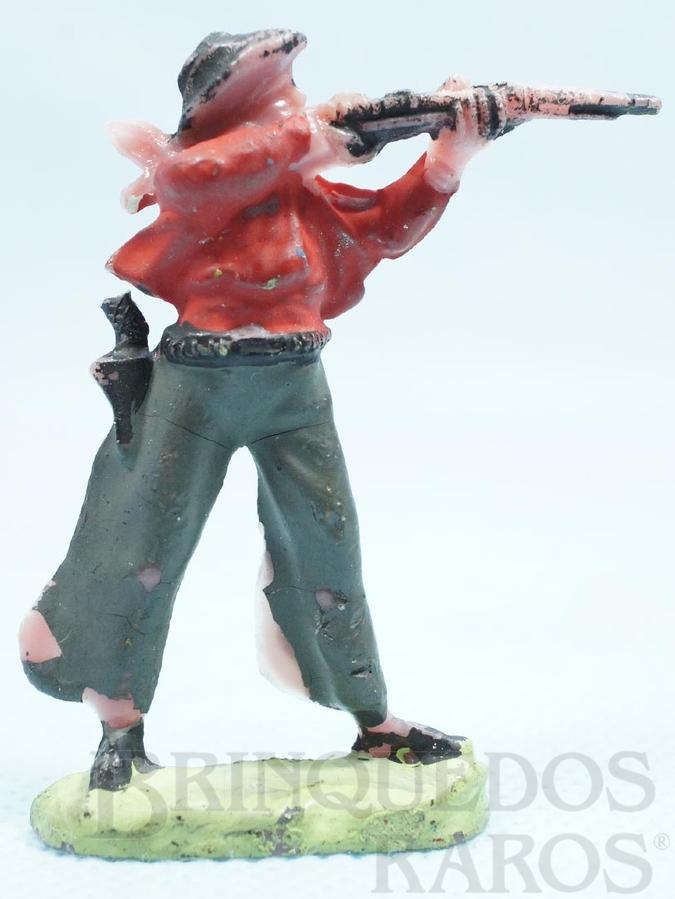 Brinquedo antigo Cowboy de pé atirando com rifle Cowboy Atirador Casablanca numerado 15 Década de 1960